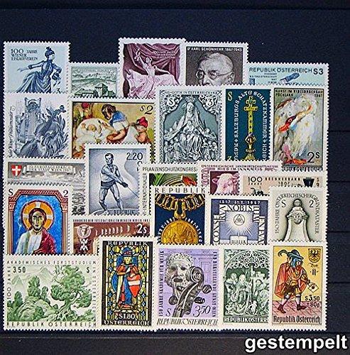 Goldhahn Österreich 1967 gestempelt Briefmarken für Sammler