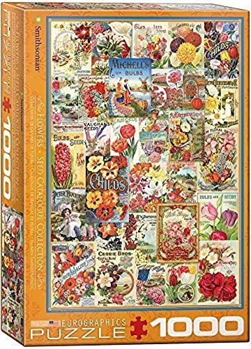 EuroGraphics FFaibleers Smithsonian Seed Catalogues (1000 Piece) Puzzle by EuroGraphics