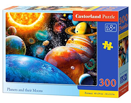 Castorland B-030262 Planets and Their Moons Puzzle, 300 Teile, bunt