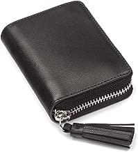 SageBrown Saffiano Zip Around Accordion Coin Purse With Tassel