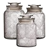 Style Setter Canister Set 3-Piece Jars in 1, 1.3 &...