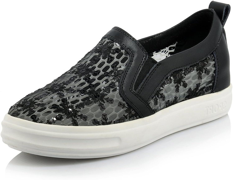 MINIVOG Women's Flats Platform Laces Leather Loafer shoes
