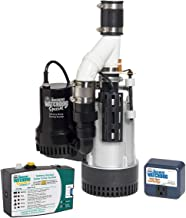 THE BASEMENT WATCHDOG Model BW4000 1/2 HP Combination Submersible Sump Pump with Cast Iron/Cast Aluminum Primary Sump Pump...