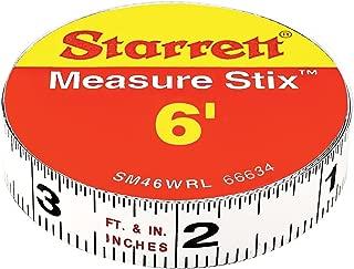 Starrett SM46WRL Measure Stix Permanent Adhesive Back Tape, 1/2