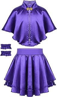 TiaoBug Kids Girls Anne Showman Wheeler Halloween Costume Cosplay Party Fancy Dress up Cape Top with Skirt Wristband Set
