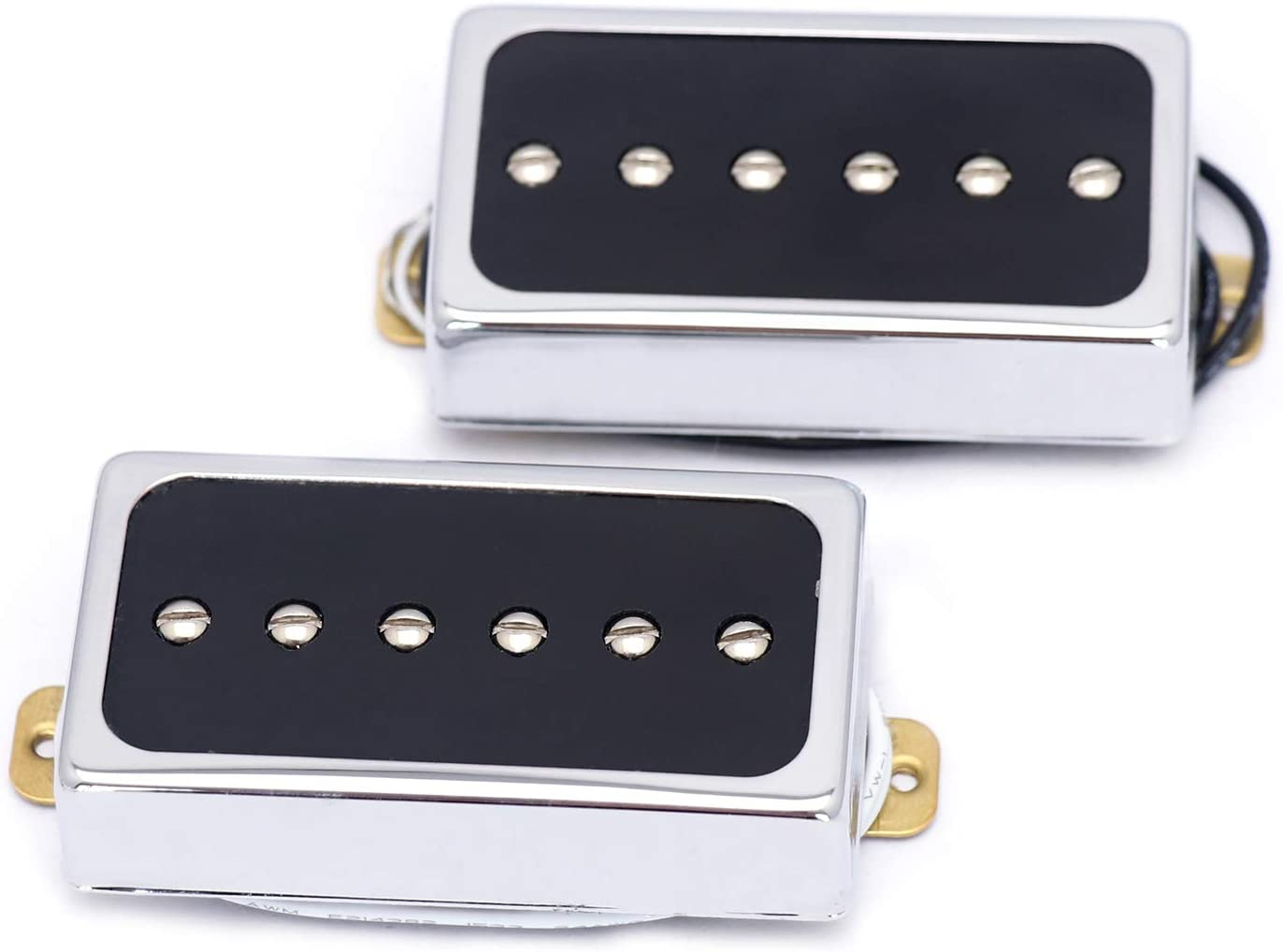 Metallor Humbucker Style Pickups Bridge and Neck Set for Les Paul P90 Style Electric Guitar. (CR)