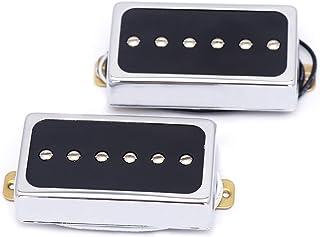 Metallor Humbucker Pickups Bridge and Neck Set for Les Paul P90 Style Electric Guitar. (CR)