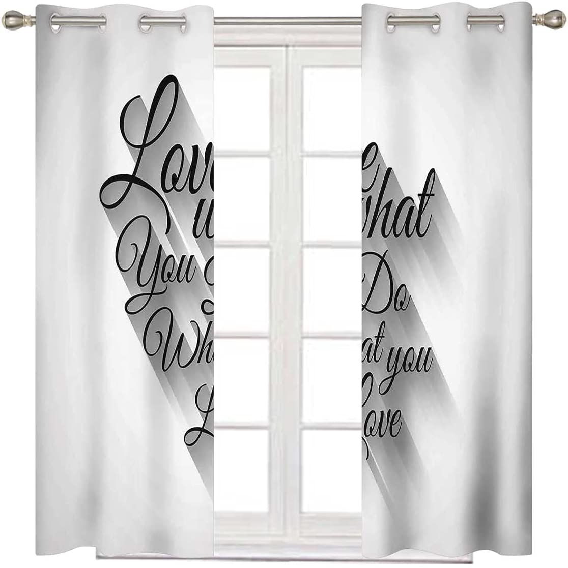 Extra Wide Curtain Panels 63 B Long Max 71% OFF Lettering Inches Luxury Manuscript