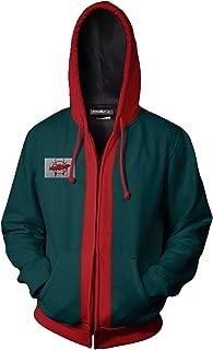Adult Kids Miles Morales Spider-Verse Hoodie Jacket Cotton Cosplay Zip Up Coat Costume Green