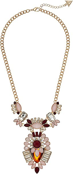 GUESS - Clustered Stone Statement with Drop Necklaces