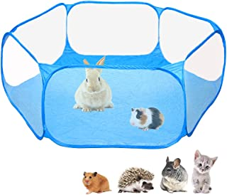 Amakunft Small Animals C&C Cage Tent, Breathable & Transparent Pet Playpen Pop..