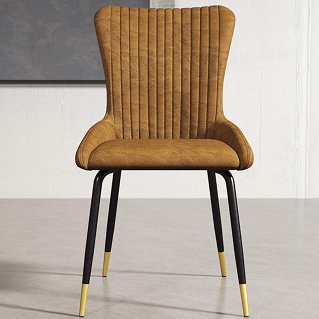LF Chaise de Salle, Chaise de Bureau Simple, créative Dossier, Chaise Loisirs, Maison Adulte Chaise de Salle Simple (Color : Blue-A) Yellow-b