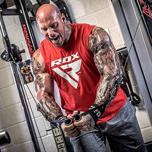 Authentische RDX Handgelenk Gewichtheben Training Gym Griff Handschuhe Body Building B D - 5