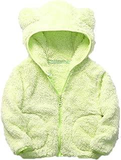 Feidoog Infant Baby Boys Girls Fleece Ears Hat with Lined Hooded Zipper Up Jacket Coat Warm Outwear