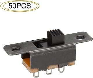 DIYhz Slide Switch Panel Mount 3 Solder Lug Pin ON/Off 2 Position 50Pcs