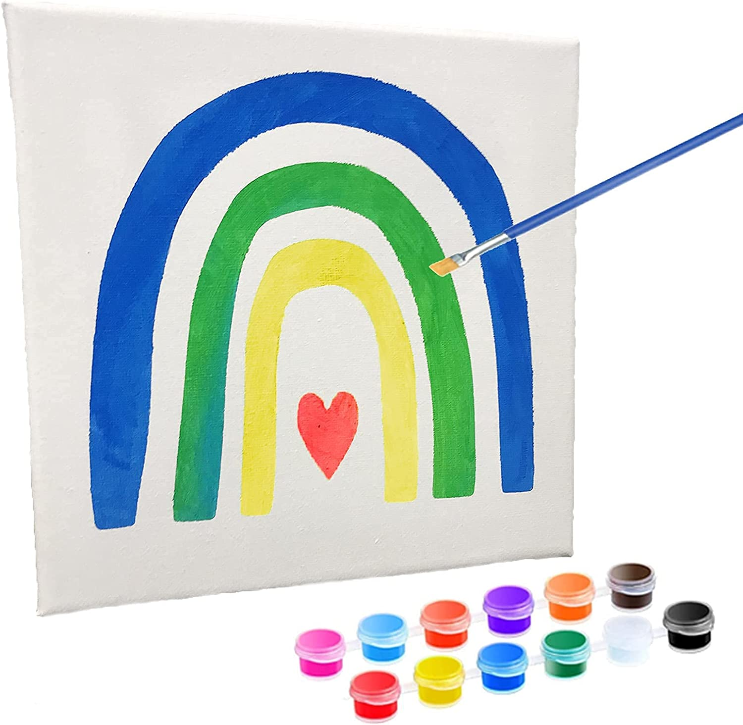 Max 71% OFF AMINORD Arts and Crafts Ranking TOP9 for Kids Ar Rainbow Canvas Painting DIY