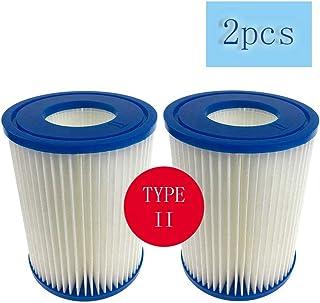 SYANO - Cartucho de filtro de piscina tipo II, para filtro Bestway II tamaño 2, descontaminación altamente eficiente, filtro de piscina, cartuchos de filtro de spa, accesorios de limpieza (2 unidades)