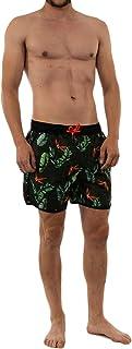 Superdry Echo Racer Swim Shorts - Tara Tropics Black