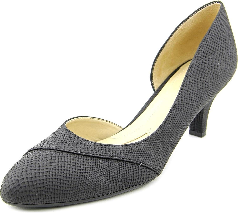 Naturalizer Womens Deva Closed Toe D-Orsay Pumps, Black Smooth, Size 7.0