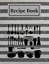 """Recipe Book: Metal Stripes Blank Recipe Book 