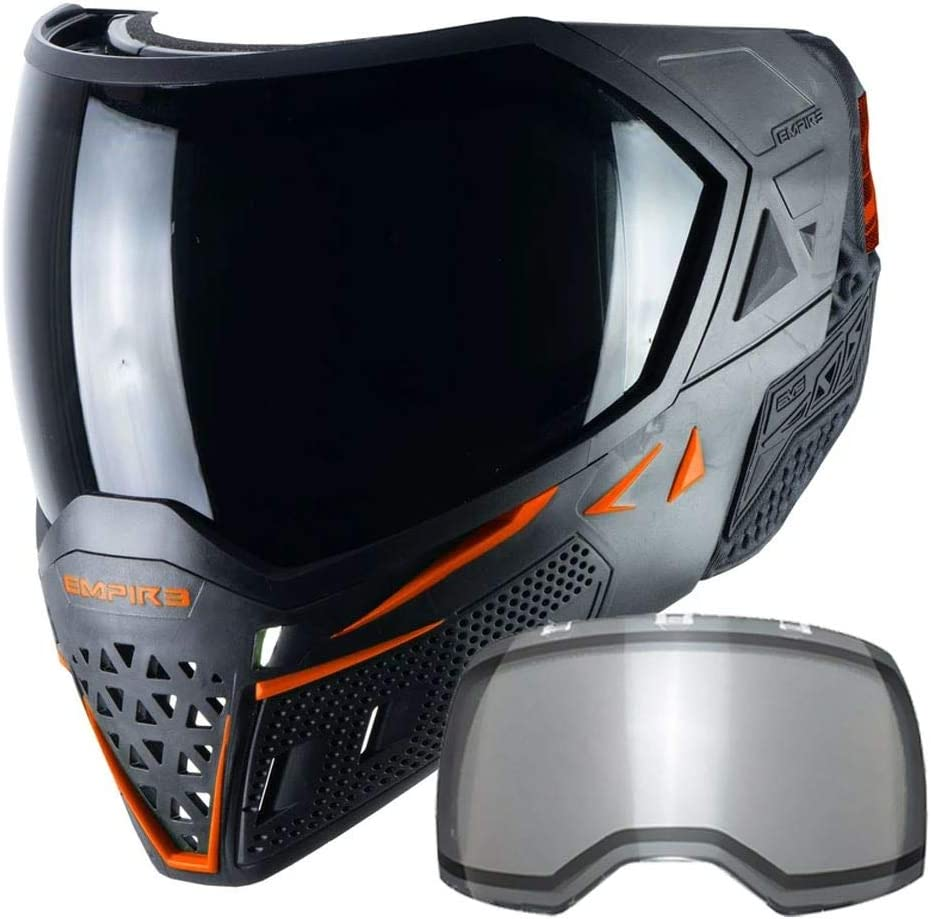 Empire EVS Thermal Paintball Mask/Goggle - 2 Thermal Lenses - Black/Orange : Sports & Outdoors