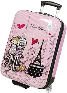 e84c20454c Valise enfant/fille ROSE LOVE PARIS 2031 ABS 50CM