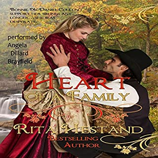 Heart of a Family     Brides of the West Series, Book 1              By:                                                                                                                                 Rita Hestand                               Narrated by:                                                                                                                                 Angie Dillard Brayfield                      Length: 7 hrs and 19 mins     3 ratings     Overall 4.0