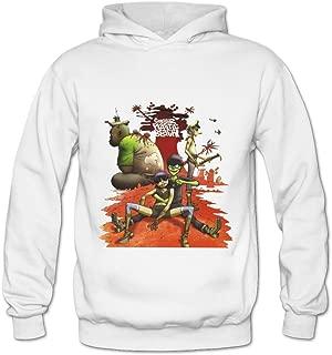 Soulya Women's Gorillaz Plastic Beach Element Hoodies Sweatshirt Size US Ash
