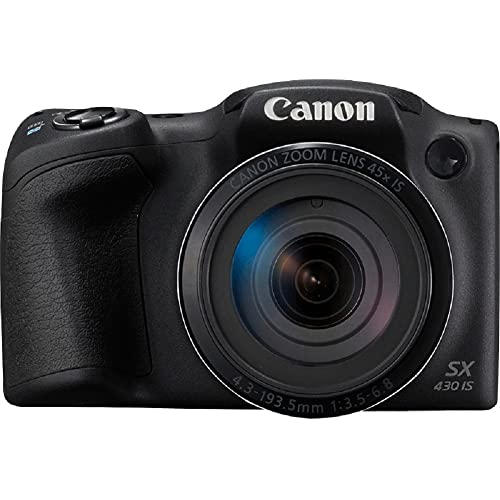 Canon PowerShot SX430 is 20MP Digital Camera Black with 16GB Memory Card + Camera Case