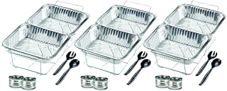Sterno 24-Piece Disposable Party Set, Silver