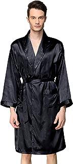 Zilcremo Mens Bathrobes Pajamas Sleeveless Hooded Cardigan Nightwear