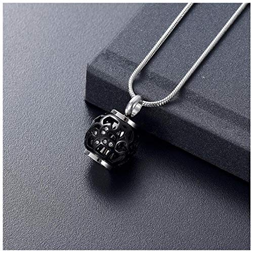 Wxcvz Colgante Conmemorativo Collar De Urna De Cenizas De Cremación De Corazón Hueco Grabado Siempre En Mi Corazón Colgante De Cuentas Conmemorativo (Mariposa)