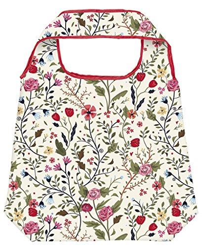 moses. Shopper Blumen | Faltbare Einkaufstasche | umweltfreundlich, wiederverwendbar