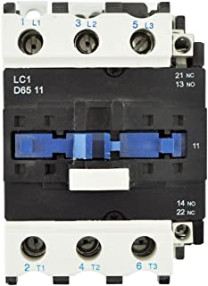 Direct Replacement for TELEMECANIQUE LC1-D65 AC Contactor LC1D65 LC1D6511-G6 120V Coil 3 Phase 3 Pole 65 Amp