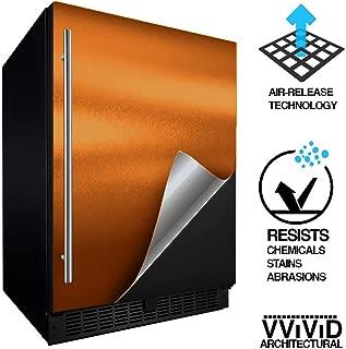 VViViD Architectural Adhesive Metallic Satin Finish Vinyl 24 Inch x 60 Inch Roll (Satin Chrome Copper)
