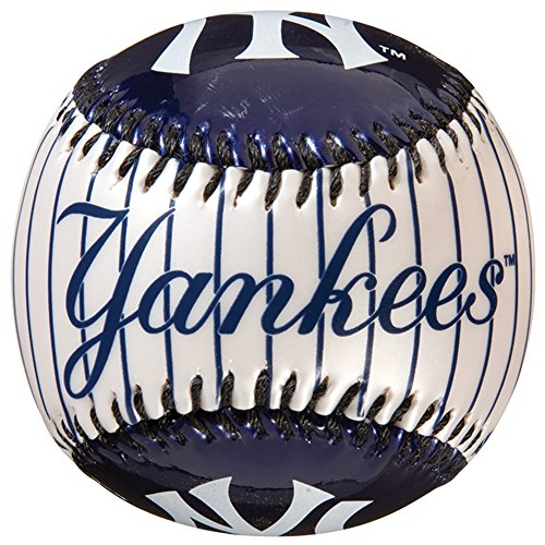 Franklin Sports MLB New York Yankees Team Baseball - MLB Team Logo Soft Baseballs - Toy Baseball for Kids - Great Decoration for Desks and Office