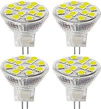 2.4W LED MR11 Light Bulbs, 12v 20w Halogen Replacement, GU4 Bi-Pin Base, Daylight White 4000K, (Pack Of 4)