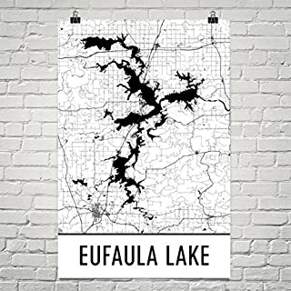 lake eufaula map