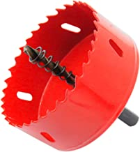 Bi-Metal Hole Saw Drill Bit HSS Hole Cutter with Arbor for Wood and Metal 3-1/3''(85mm)