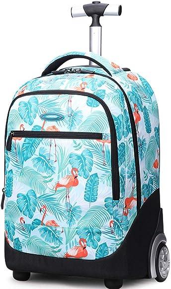 Rugzak trolley flamingo blauw