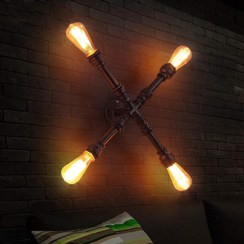 JU Retro Industrie Wandleuchte kreative Wohnzimmer Schlafzimmer Wand Lampe Balkon Eisen Wasser Rohr Wandleuchte [Energieklasse a ] B07FZVWNC5 | Verrückte Preis