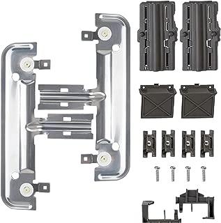 Decorlife Upgrade W10712394 Dishwasher Dishrack Adjuster Kit Metal Rack Adjuster Replacement Kit Compatible with Whirlpool KitchenAid Kenmore Dishwasher Replace AP5956100 W10350376 W10253546