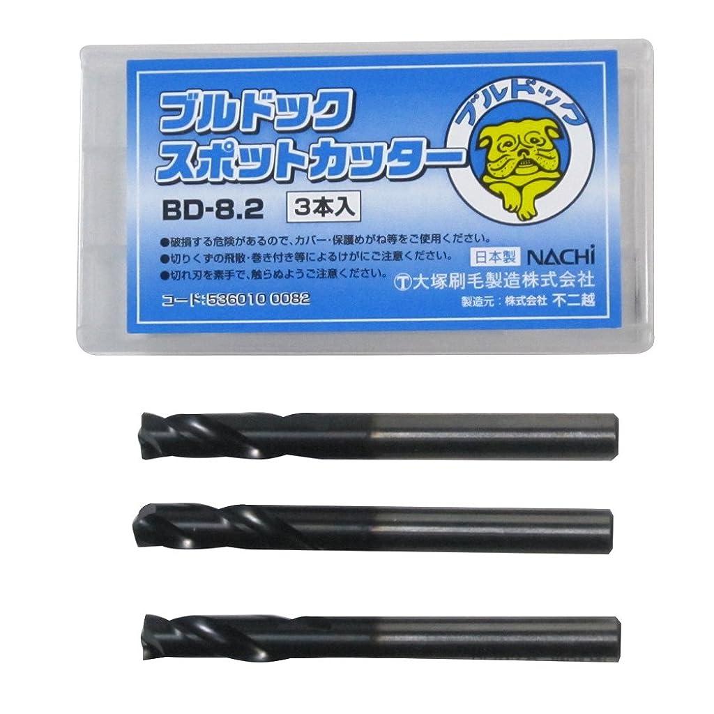 メンダシティ小人すり大塚刷毛 ブルドック スポットカッター BD-8.2×80 3本入