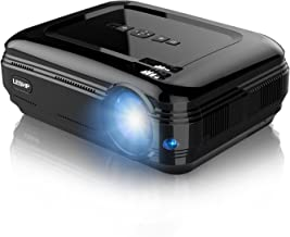 Projector, LESHP Video Projector 1080P HD Home Theater Movie Projectors 3200 Luminous Efficiency Backyard Outdoor LCD Support Laptop Xbox VGA USB Speaker HDMI for Computer TV Laptop Gaming SD