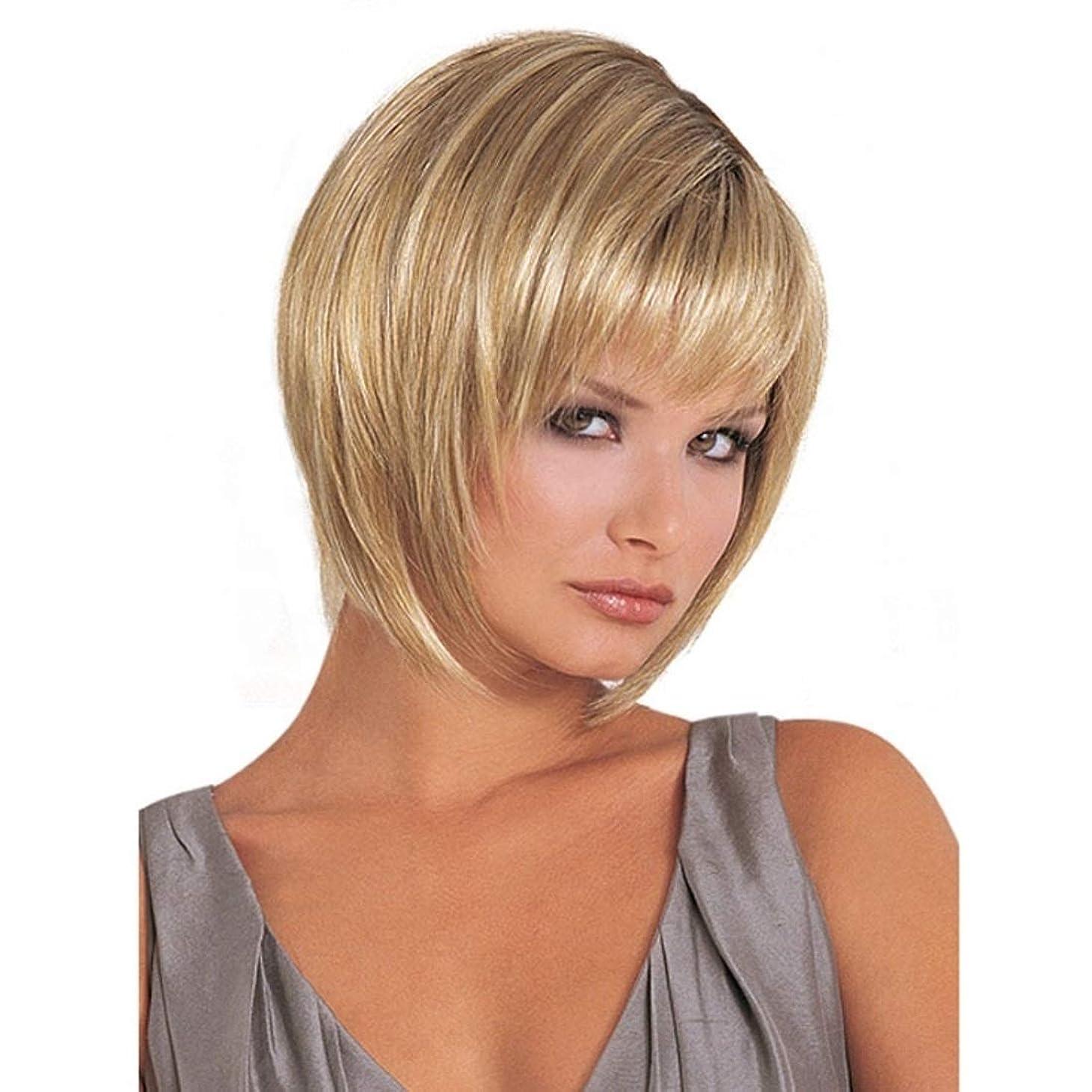 研究ユダヤ人金銭的なKerwinner ふわふわのマイクロボリューム現実的なかつら女性のための短いカーリーナチュラルカラーゴールドかつら白髪用かつら20cm / 25cm