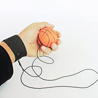 Sanwooden Funny Wrist Band Ball Bouncy Wrist Band Rubber Ball Elastic String Rebound Finger Exercise Sport Toy Toys for Al...