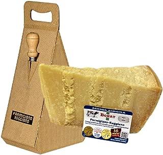 Azienda Agricola BONAT - Parmigiano Reggiano 14/16 Mesi 1Kg + Box Regalo con Coltellino in Acciaio INOX