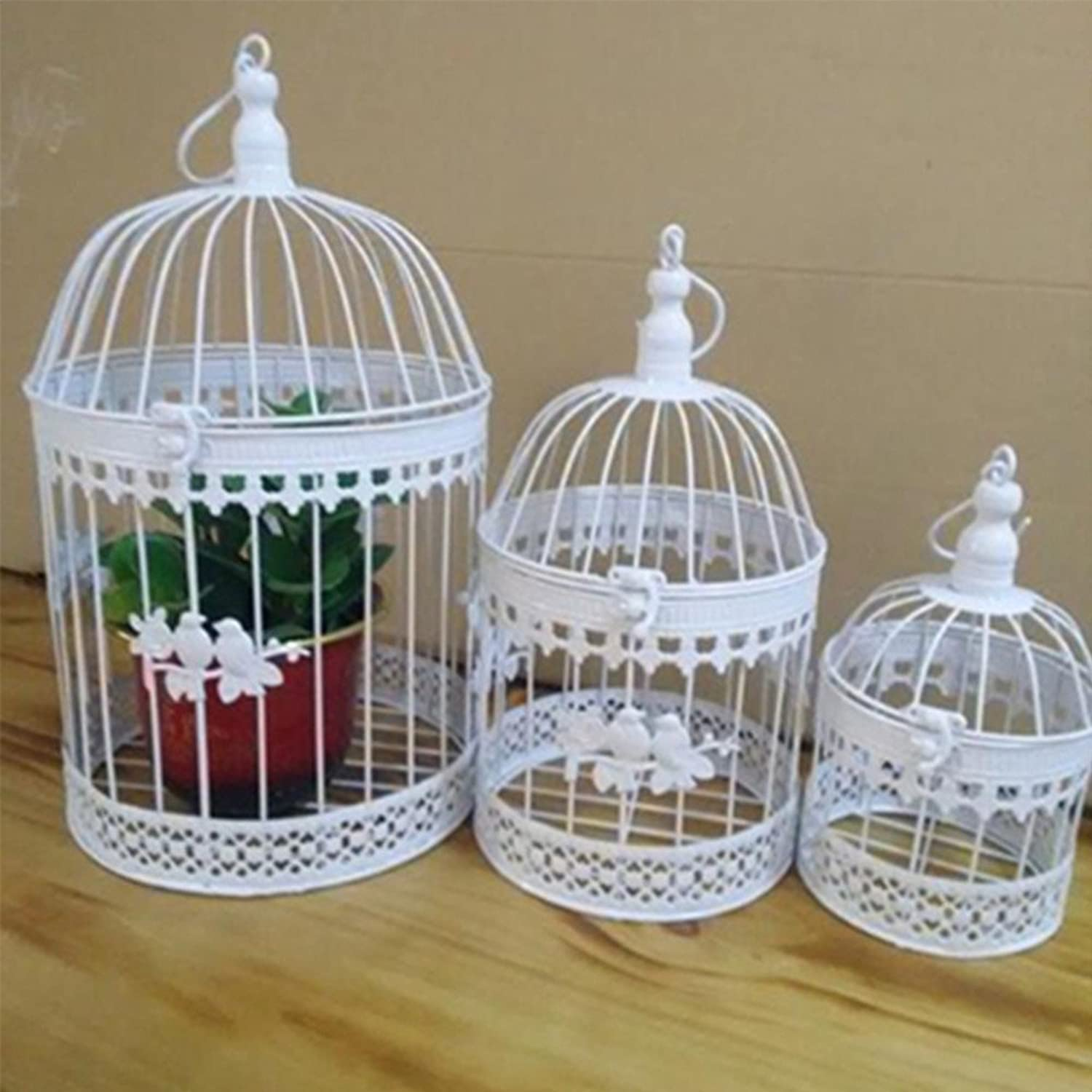 Fashion Antique Decorative Bird Cages Classic Iron Flower Decor Birdcage