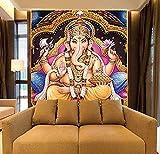 Wallpaper mural Indische Götter 8D Papier Wandbilder Hindu-Götter Buddha 3D Fototapeten Wallpaper Hintergrund religiöse 3D Wallpaper Wandbilder , 140x100cm