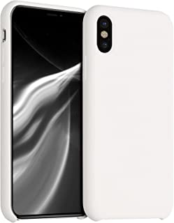 kwmobile TPU Silicone Case Compatible with Apple iPhone X - Slim Protective Phone Cover with Soft Finish - Cream
